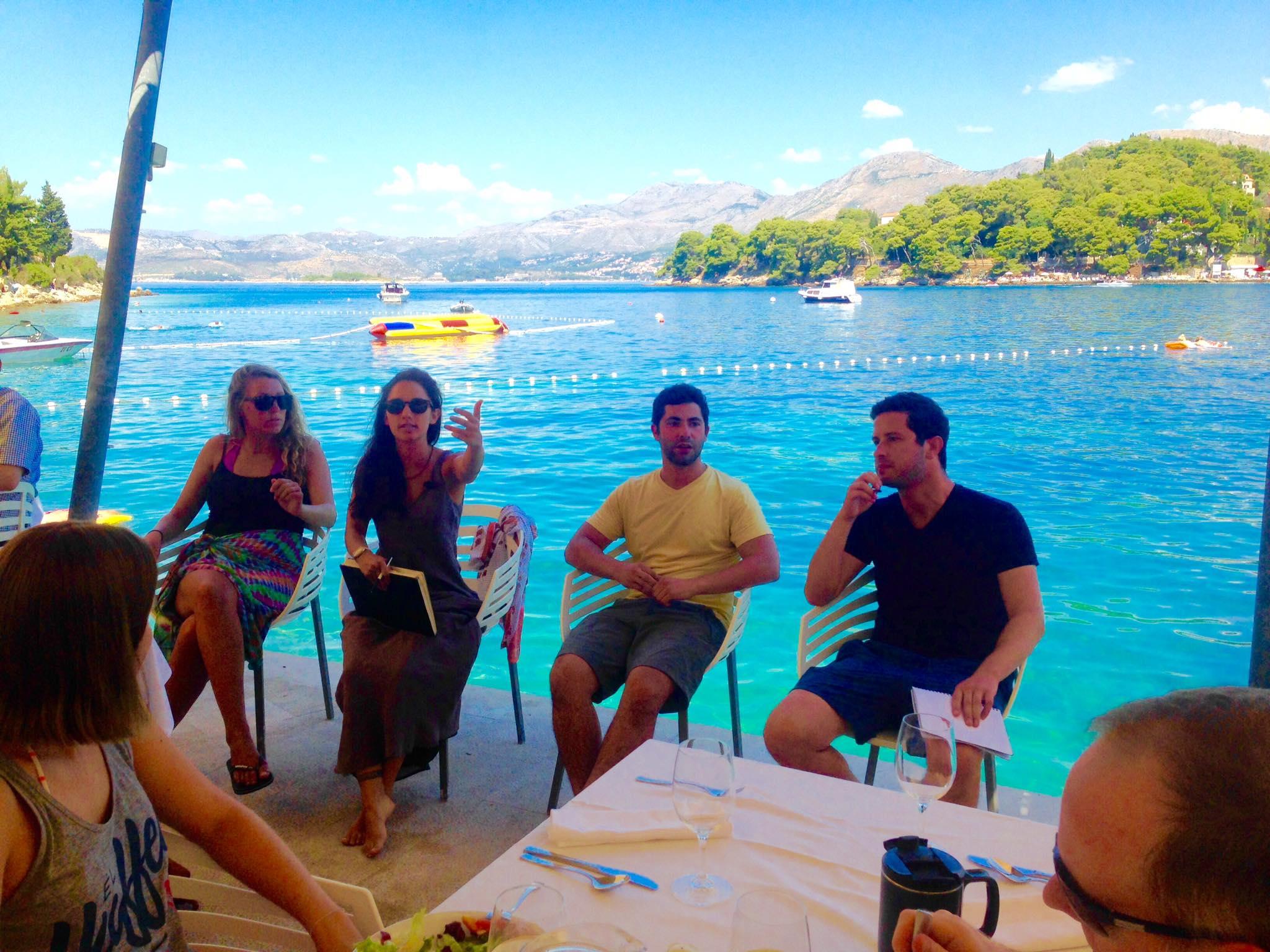 Trish, hannah, greg and sam in cavtat, croatia.