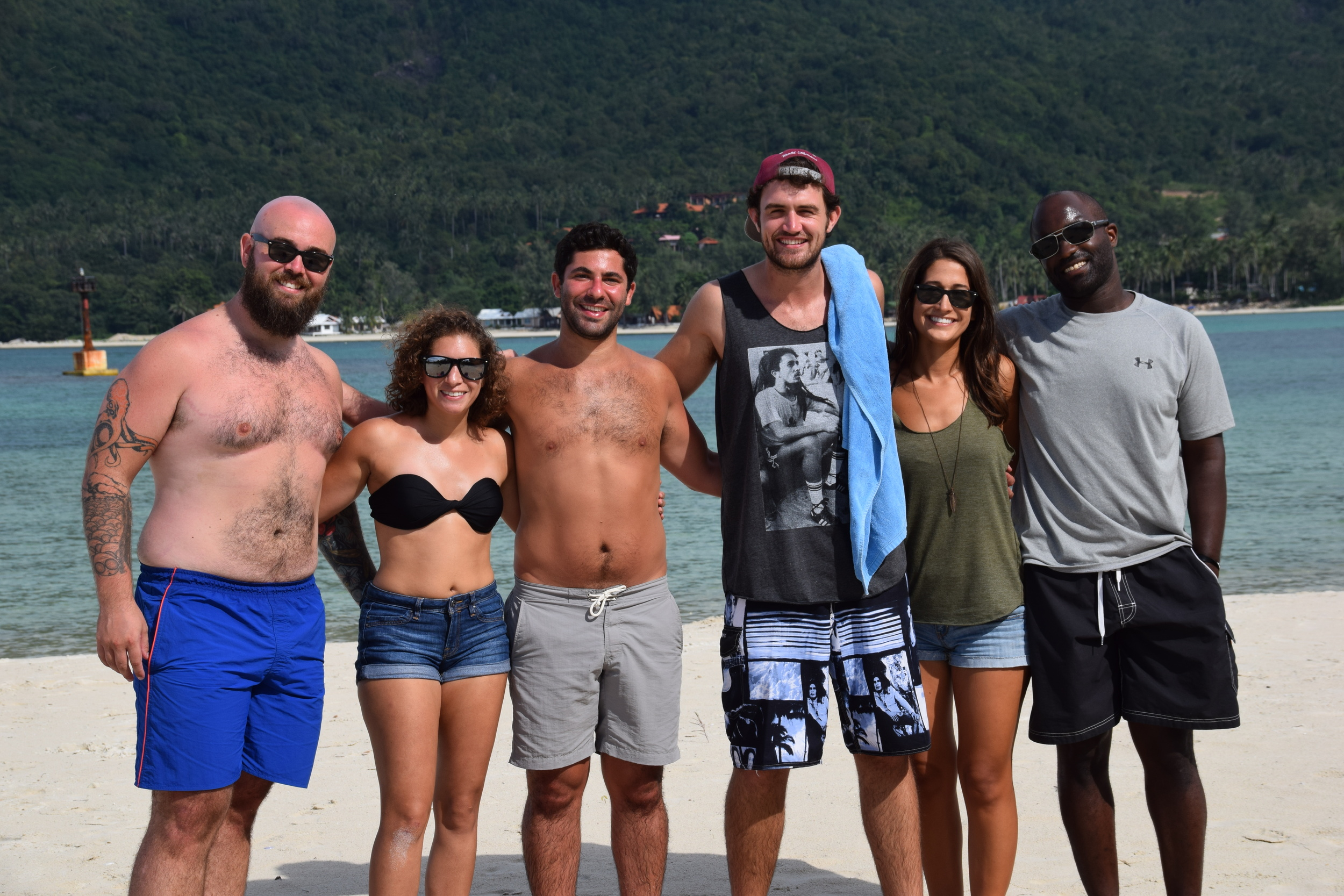 A Group of The Remotes taking a trip to the beach in Koh Phangan, Thailand