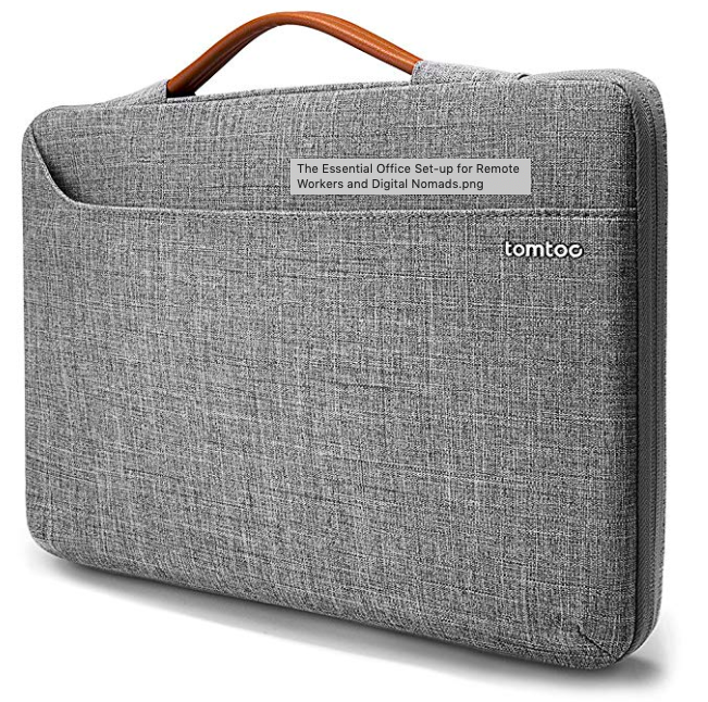 Remote Work and Digital Nomad Office Set up Laptop Sleeve with Handle.png