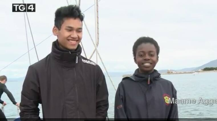 Ramy and Maame on board of Spirit of Oysterhaven