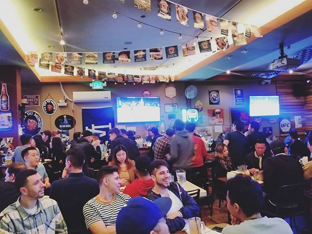 It's a full house for #ufc235 at #biergartenla! Be sure to make your rezzies in advance for future matches!!