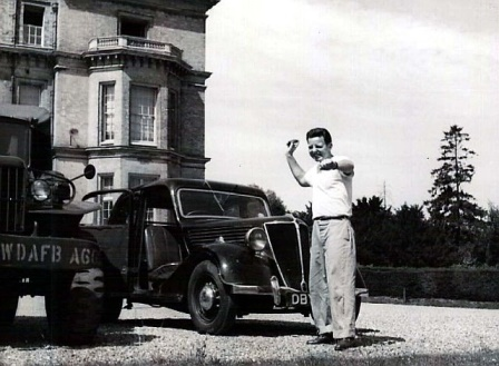 A man poses in front of Hedsor House in the 1950s when Hedsor House was used as a USAF spy base during the Cold War. Security and privacy have remained paramount ever since.