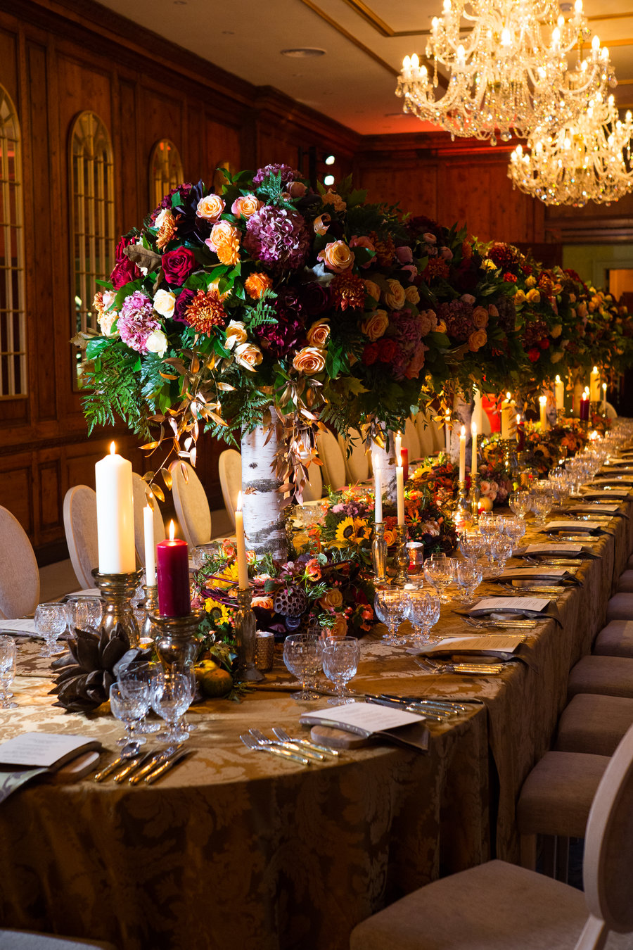 Rehearsal Dinner at Hedsor House. Flowers by  Amie Bone  and table styling by  Melissa Webb  Photo Credit -  John Nassari