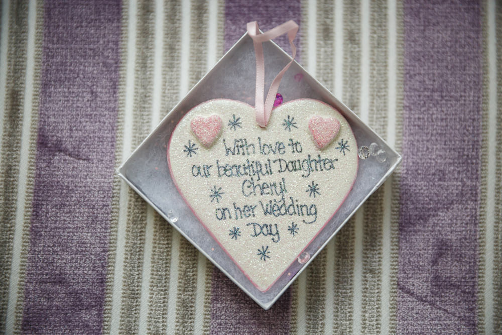 24. 'Daughter on your wedding day' plaque from Mother of the Bride.JPG