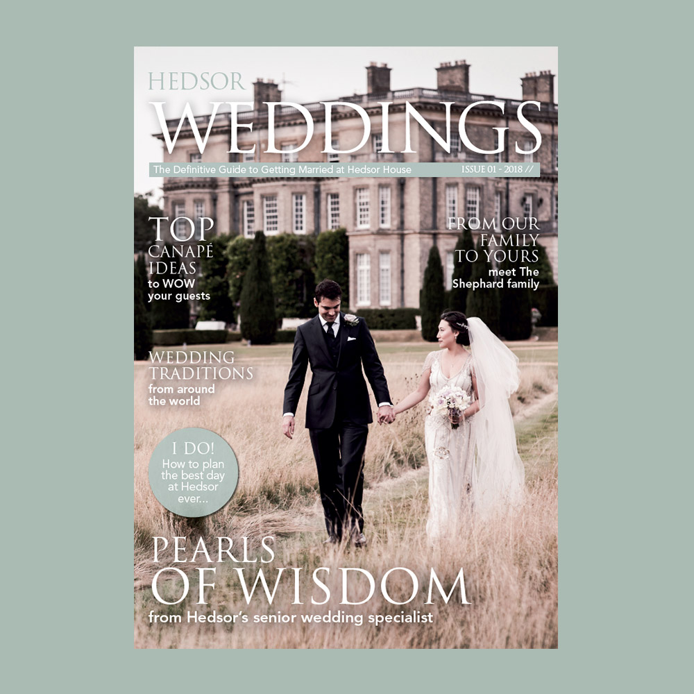 HEDSOR WEDDING MAGAZINE - Download our complimentary copy of The Definitive Guide to Getting Married at Hedsor House.