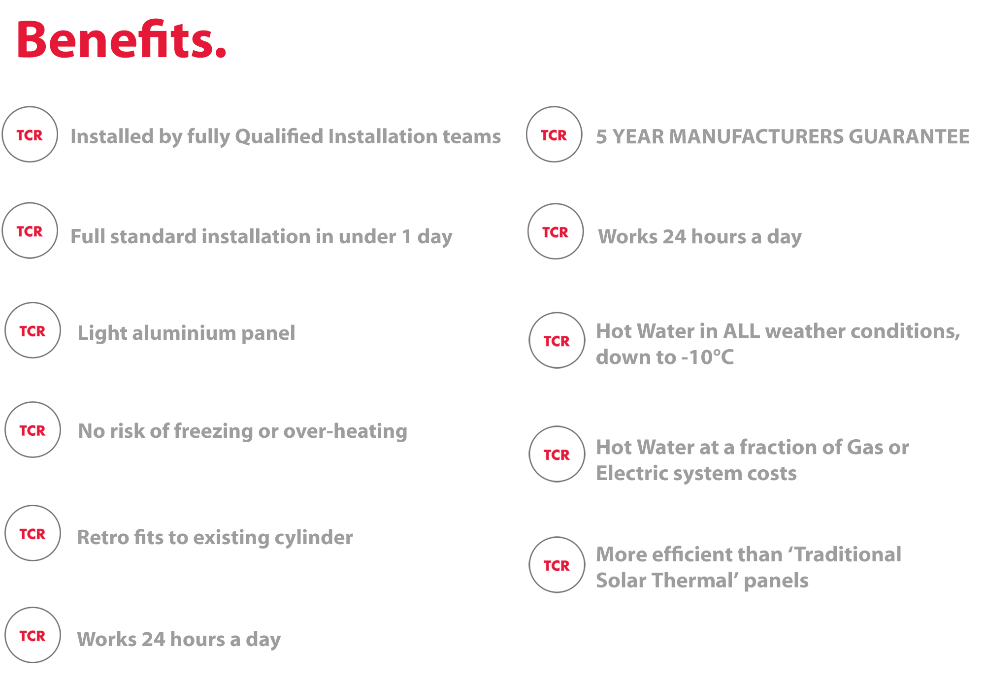 Benefits of Solar Thermodynamics