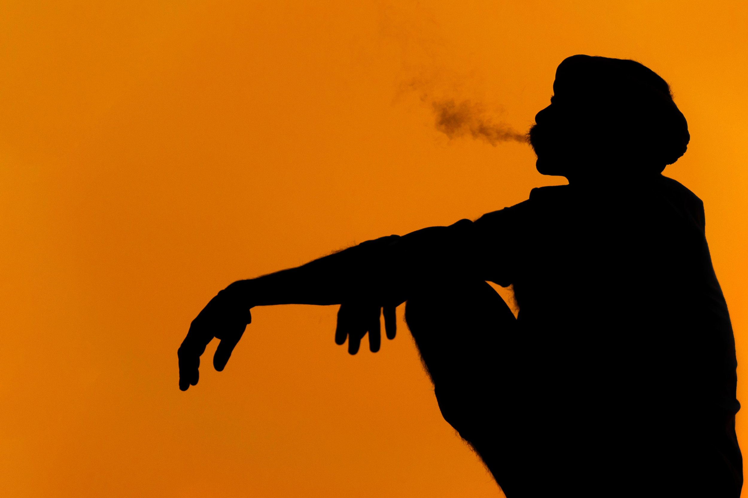 Smoking Man: Pushkar, Rajasthan, India