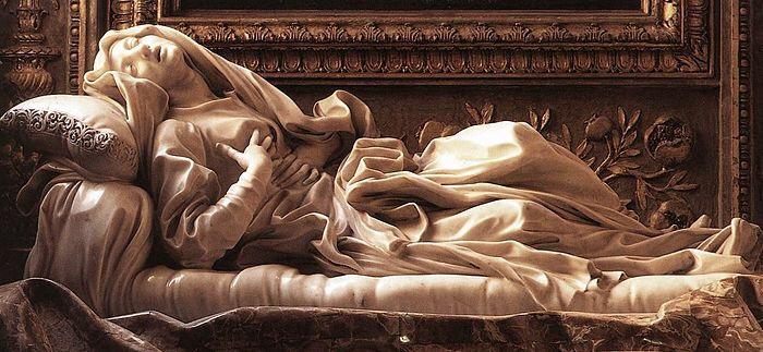Ecstasy of Blessed Ludovica Albertoni - Gian Lorenzo Bernini 1674