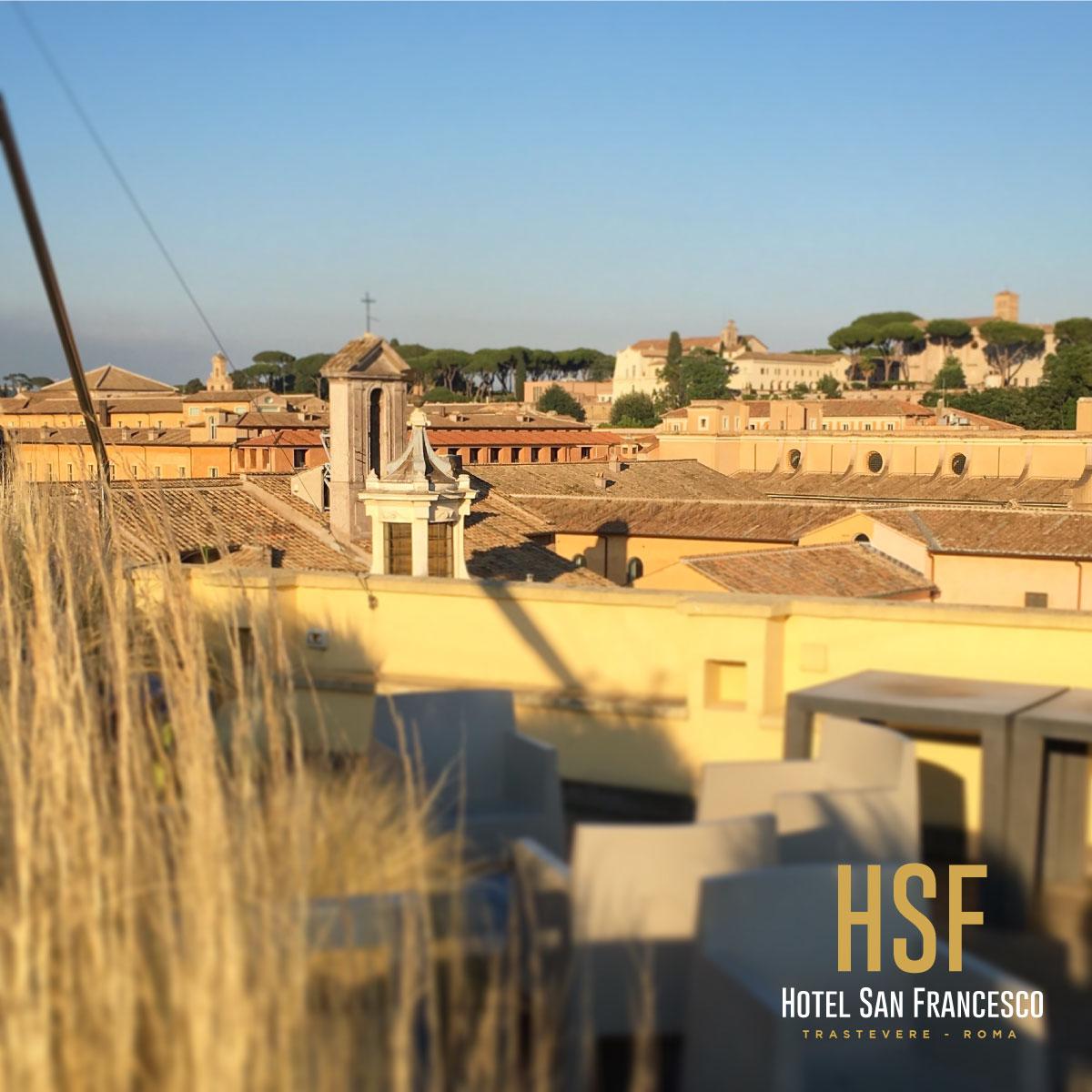 Panoramic Rooftop Bar In Rome Hotel San Francesco Rome