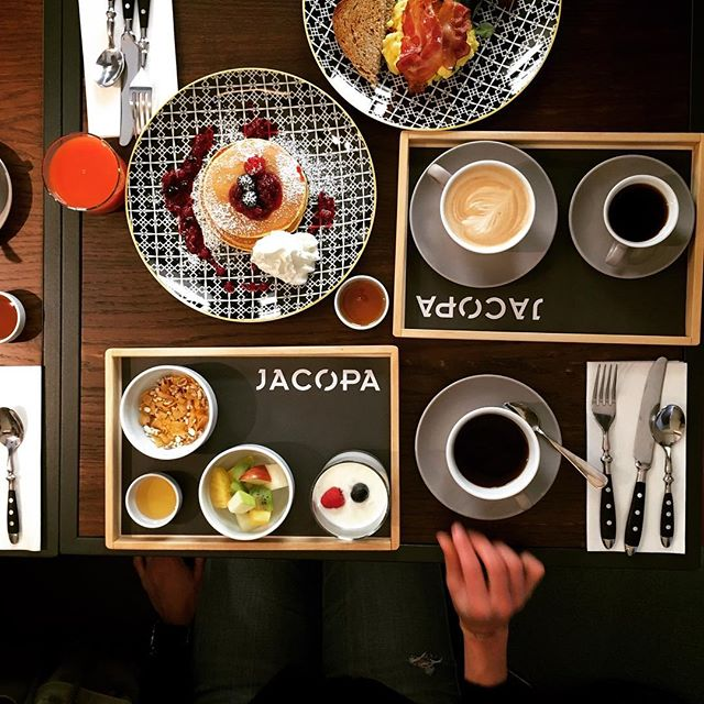 Our breakfast is different 😋  #hotelsanfrancescoroma #jacopa #trastevere #breakfast #hsfrome #breakfastintrastevere