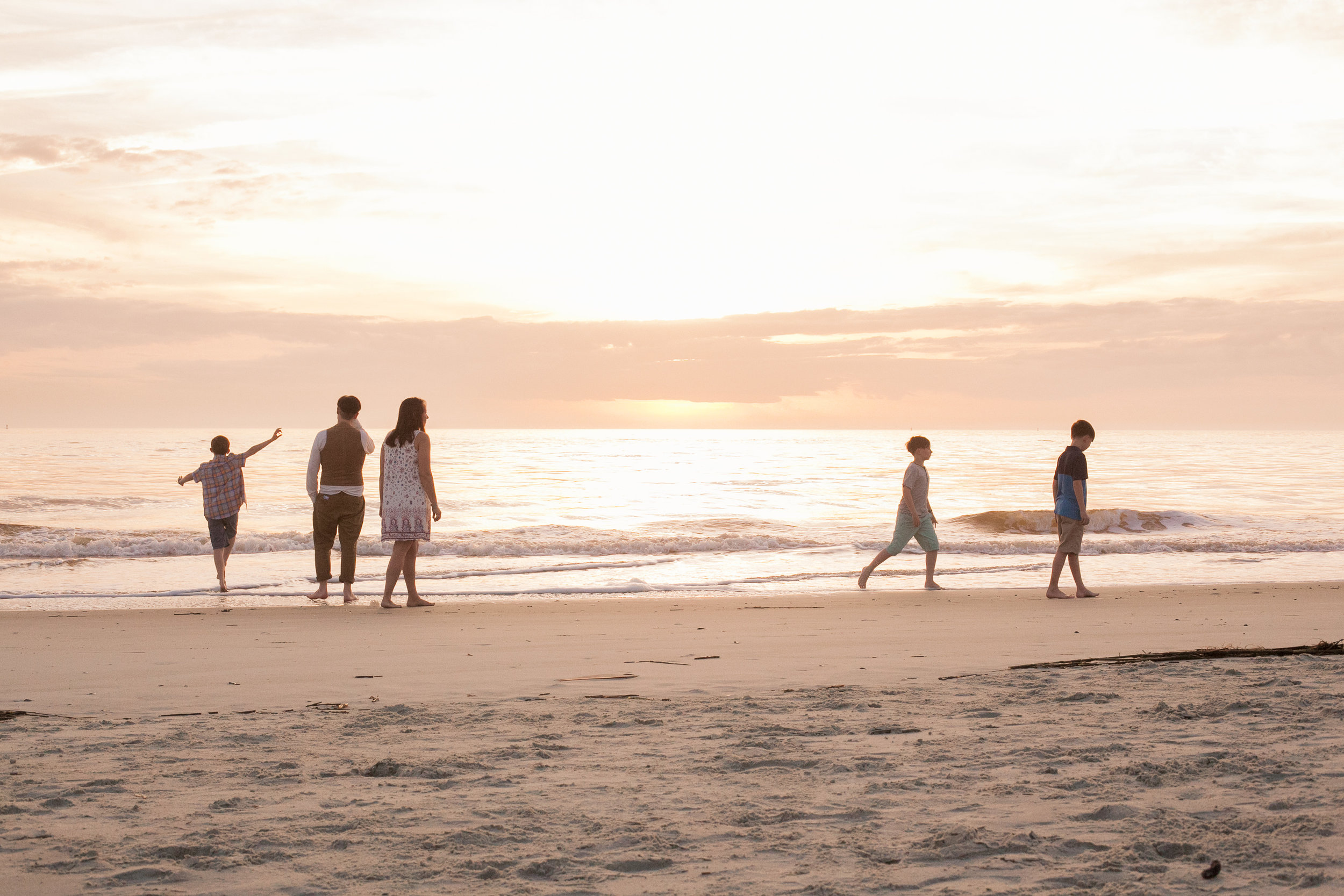 Tybee Island Sunrise Family Session, Laurie Schultz Photography