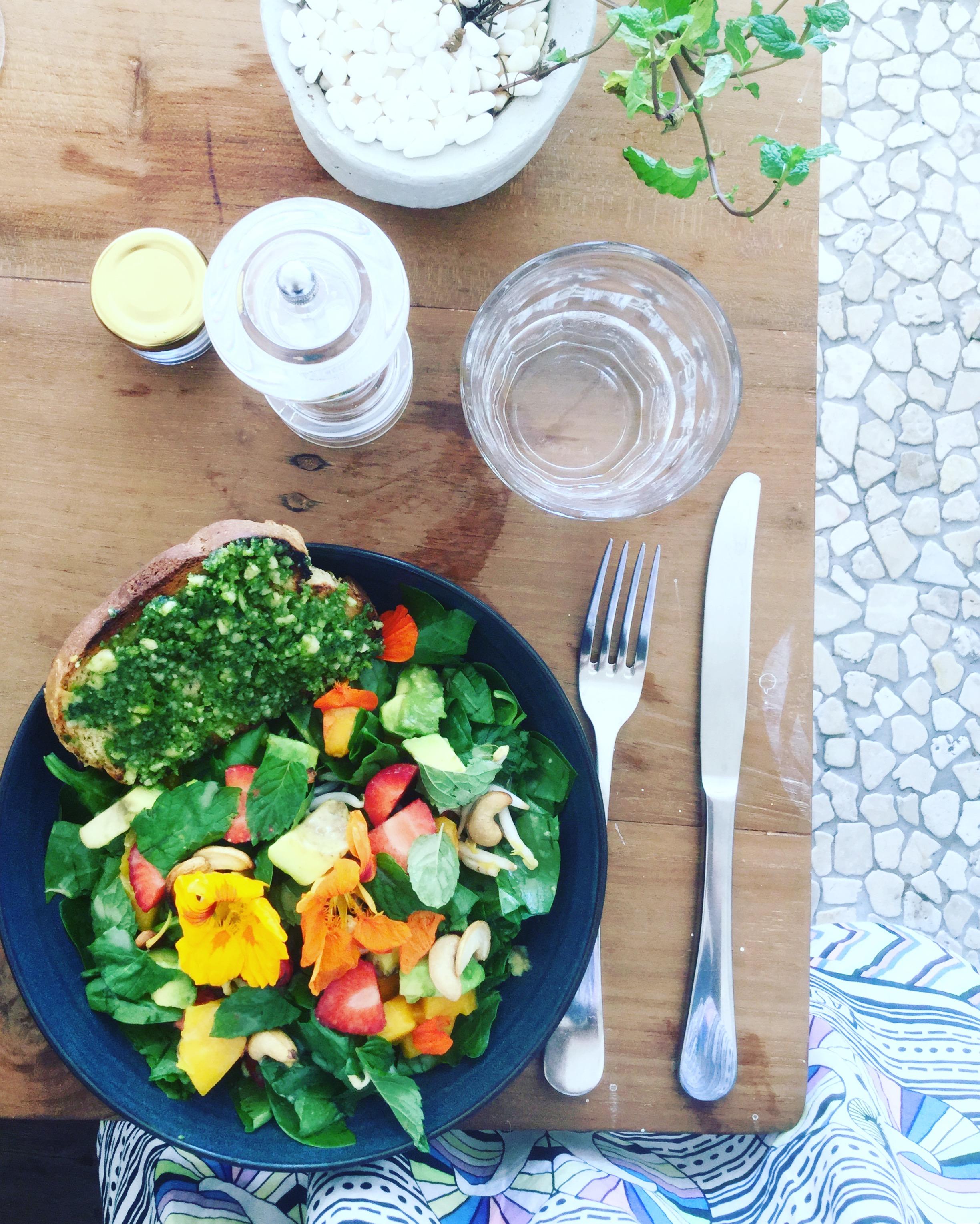 vegan food, bali
