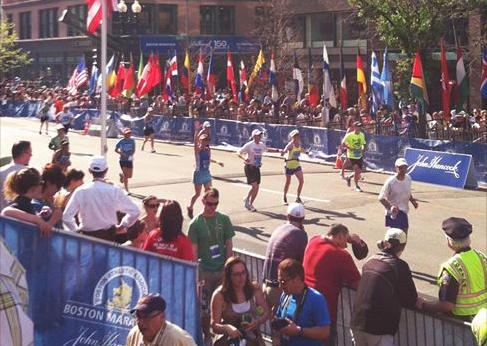 Finish line of the 2012 Boston Marathon. Wrecked and hot.