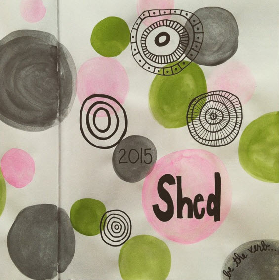 Tammi's drawing of her 2015 word: Shed.