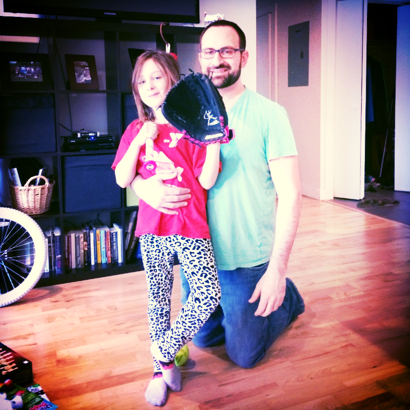 You and daddy, Christmas morning (before the broken arm!)