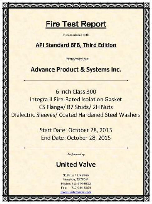 Integra Ii Fire Safe Insulation Kit Pipeline