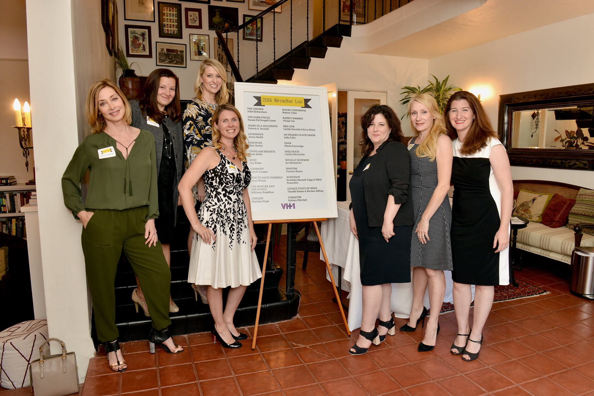 VH1 and WeForShe celebrate the 2016 WriteHer List on April 27, 2016 in Los Angeles, California. ©VH1/PictureGroup — with  Sharon Lawrence ,  Miura Smith Kite ,  Claudia Maittlen-Harris ,  Katy McCaffrey ,  Maggie Malina ,  Jenni Blong Livingston  and  AnnaLea Rawicz Arnold .