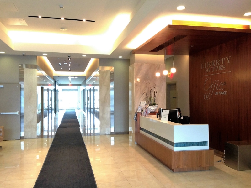 Building reception area
