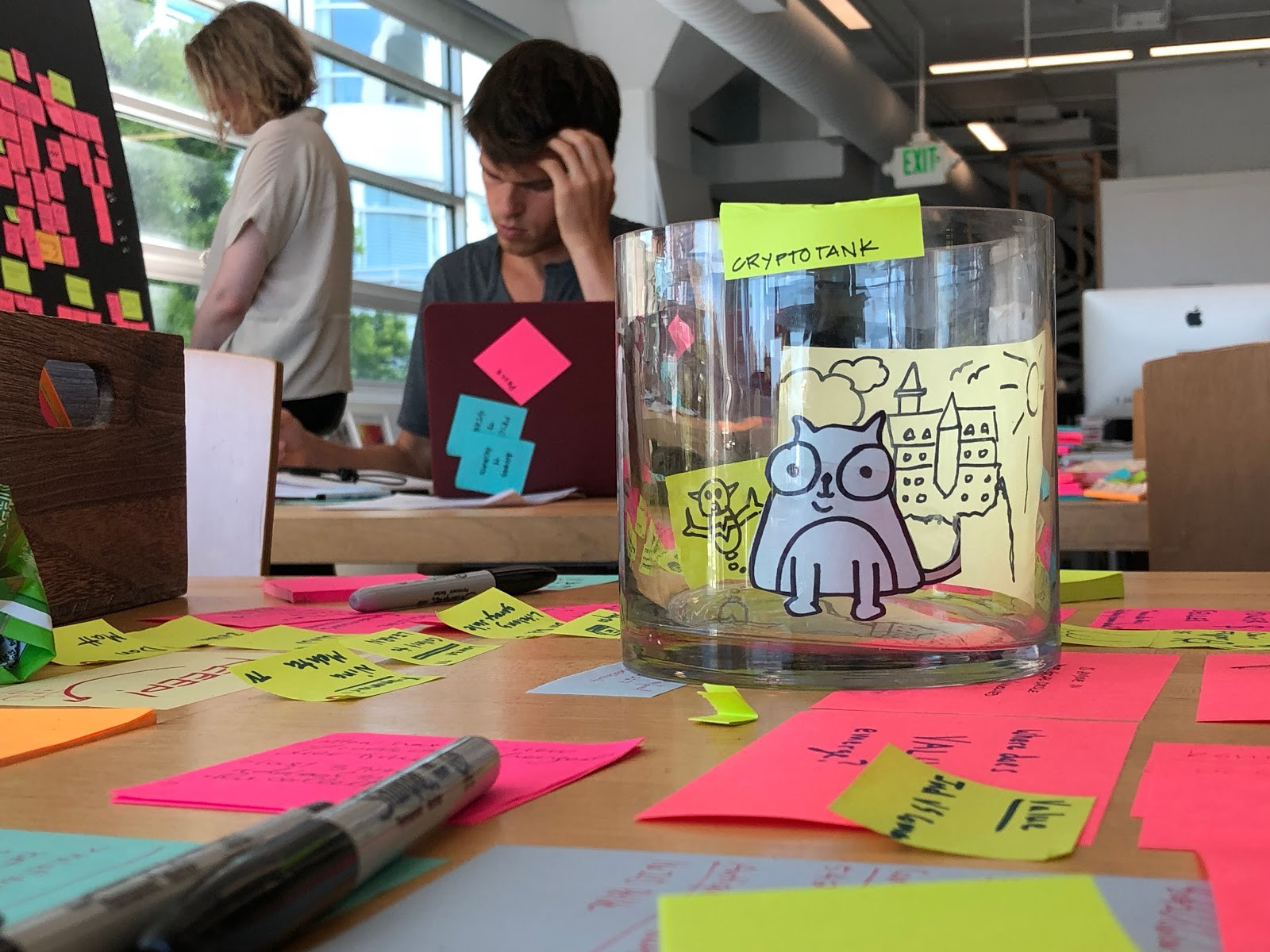 Some of our prototypes explored giving digital collectibles space in the physical world.