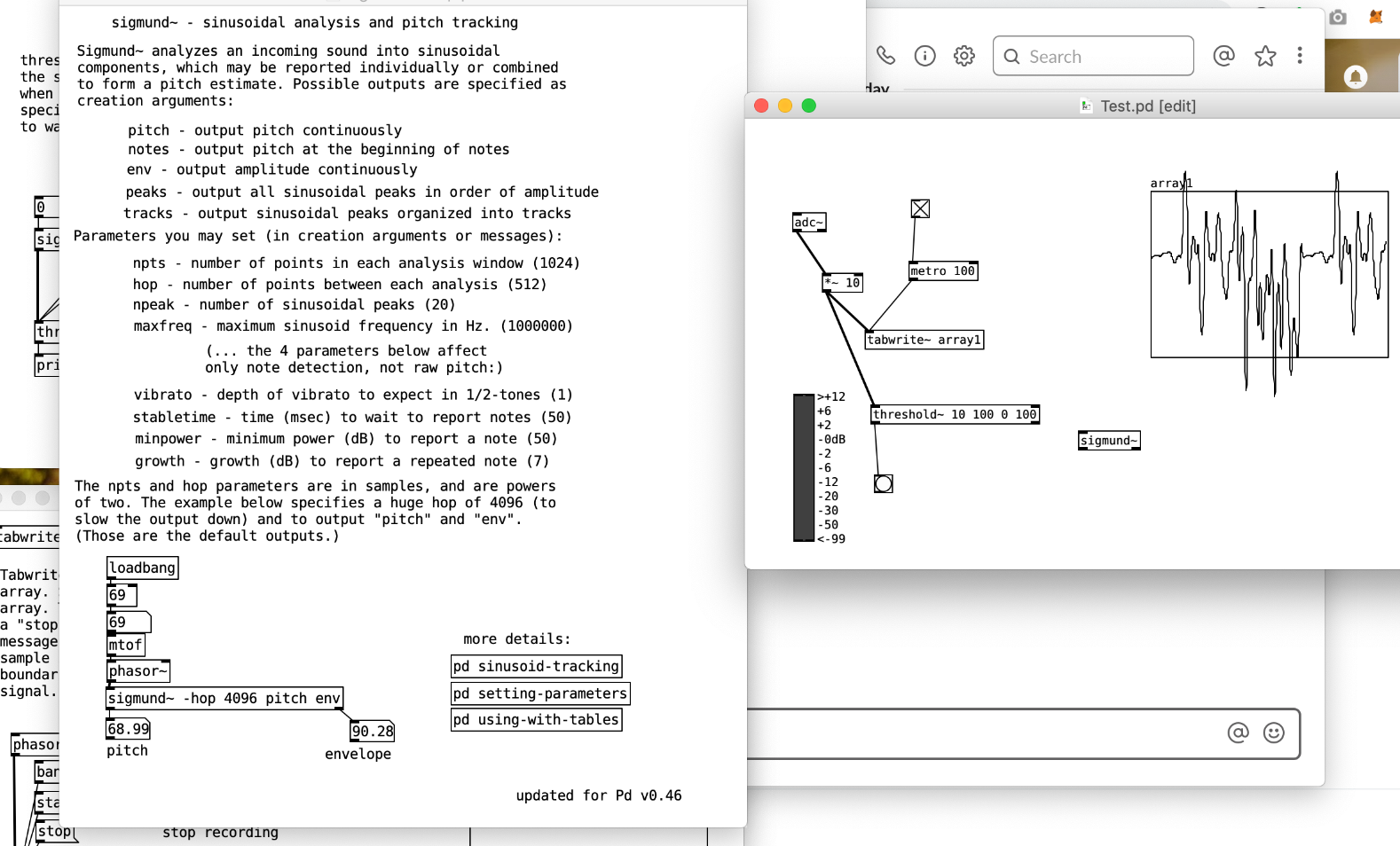 Toying around with pure data, an open source visual programming language for computer music and multimedia works.