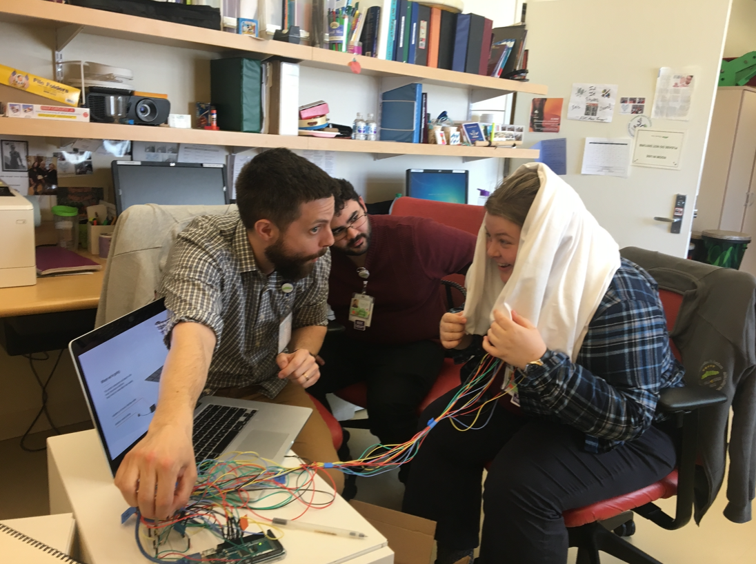 Testing a prototype with music therapists at Elizabeth Seton Children's