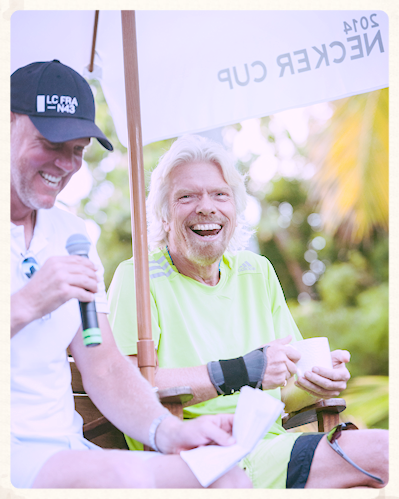Sharing the mic w/ Sir Richard Branson