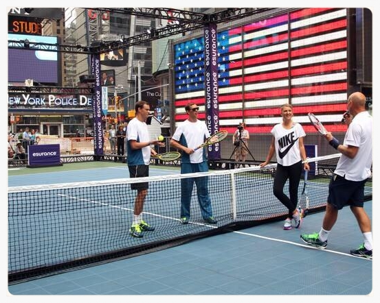 esurance Times Square 2014 US Open