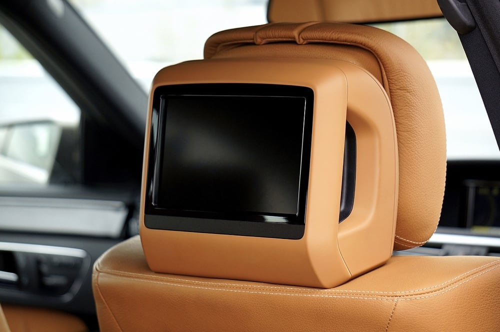 Car video screen & car television monitor.