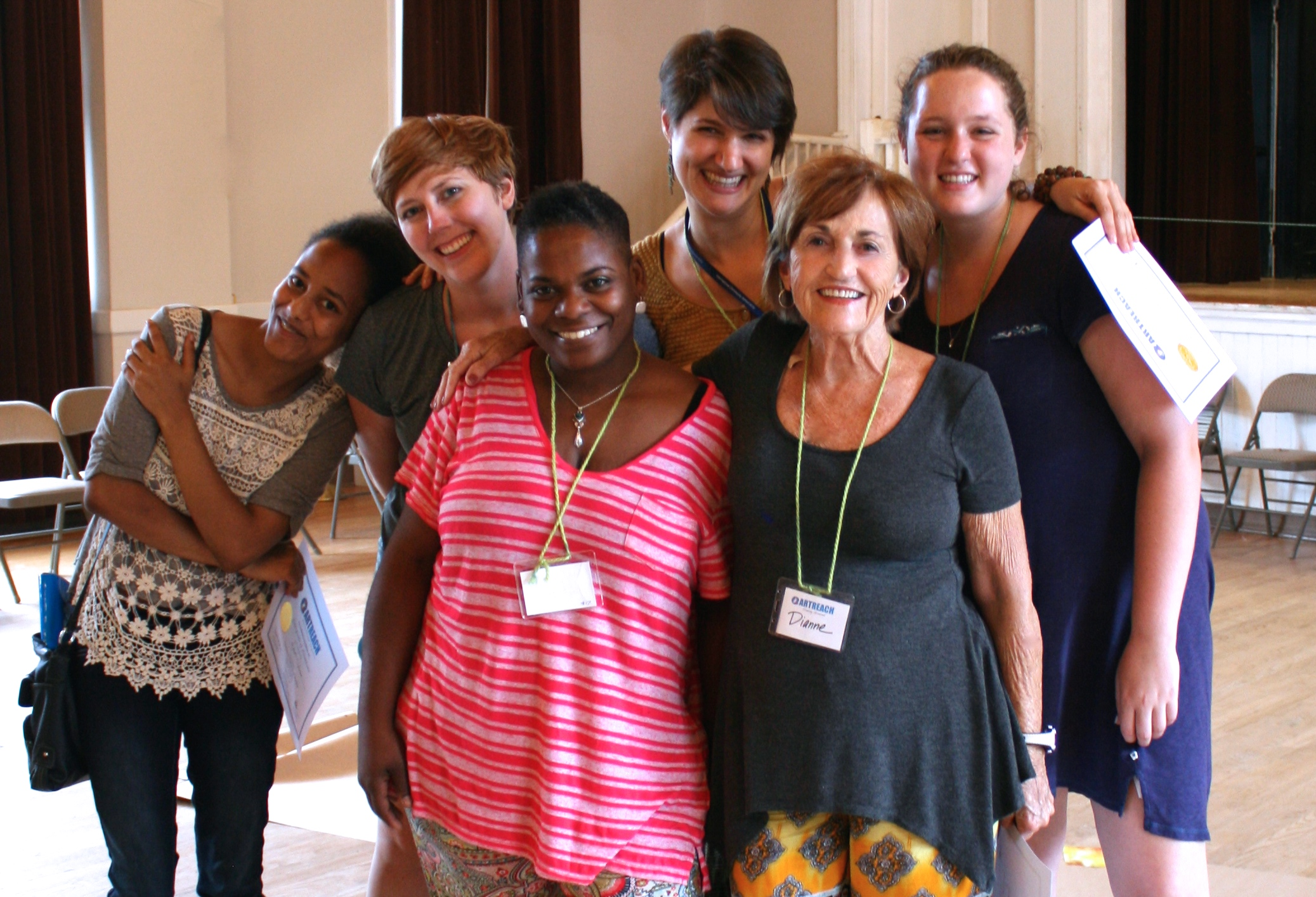 A Wonderful Team of Program Managers following an ArtReach Workshop with the Clarkston Community Center!