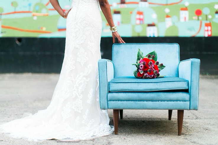 Blue chair w/ floral: Stephanie Yonce Photography