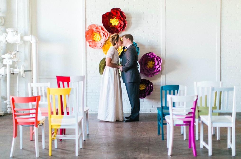 Rainbow chairs: Stephanie Yonce Photography