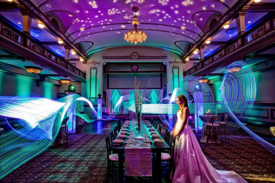 Lighting design concepts range from subtle to showy, depending on the tastes of the bride and groom.