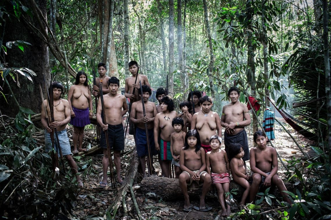 One of the last remaining groups of Awá people today.