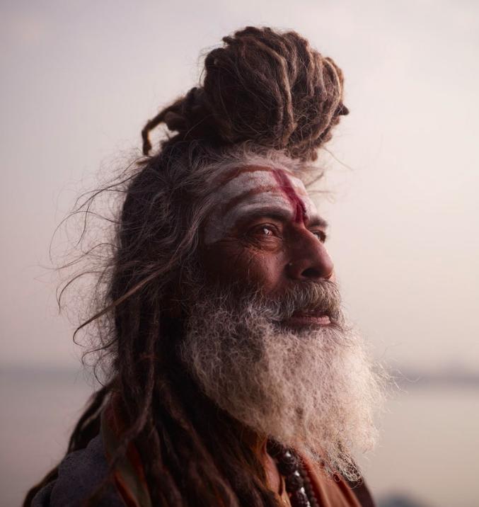 Above:Portrait of Baba Nondo Somendrah in Varanasi.