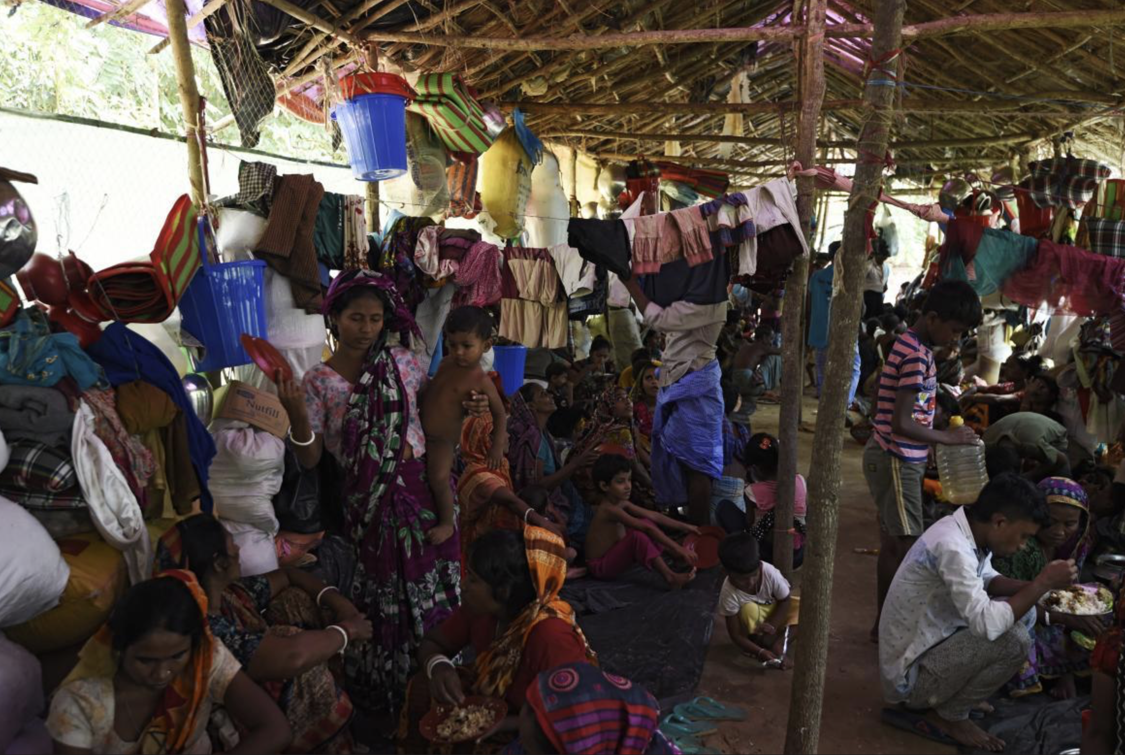 Refugees taking shelter in Southern Bangladesh