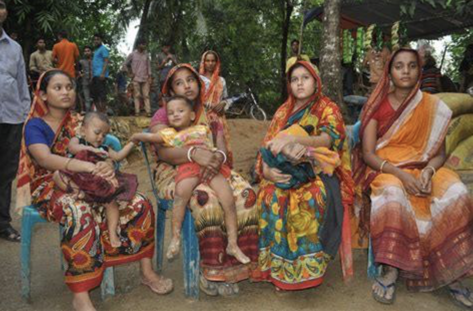 Refugees living in Kutupalong Refugee Camp in Cox's Bazar, Bangladesh