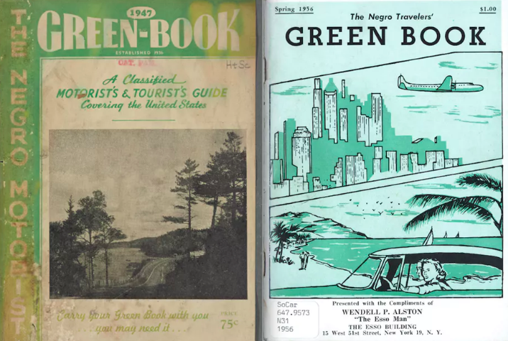 The 1947 and 1956 editions of the 'Green Book,' which was published to advise black motorists where they should – and shouldn't – frequent during their travels. Image on the left: Schomburg Center for Research in Black Culture, Manuscripts, Archives and Rare Books Division, The New York Public Library. Image on right: Courtesy of the South Caroliniana Library, University of South Carolina, Columbia, S.C