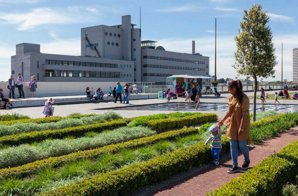 Dak Park, the largest rooftop garden in the Netherlands absorbs rain and CO2. Image Credit: dakparkrotterdam.nl