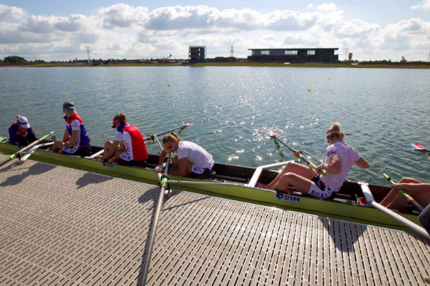 State of the art rowing course in the Eendragtspolder area doubles as water storage during extreme flooding. Image Credit: Willem Alexander Baan