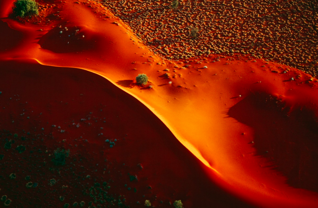 Late light on a drifting sand dune, Windorah, south east Queensland. (Taken 1994)