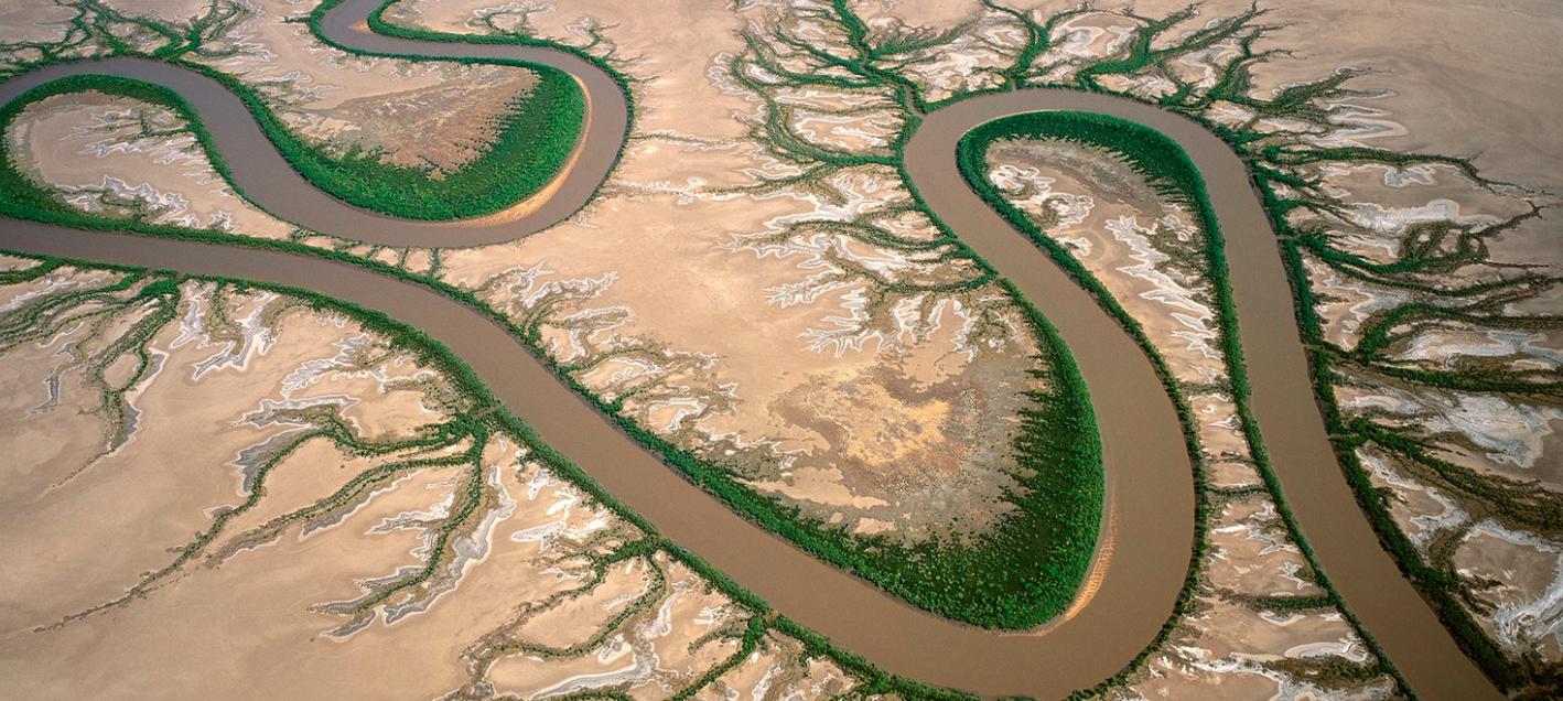 Forrest River, Kimberley, Western Australia. A tidal river system, north-west of Wyndham. (Taken 2003)