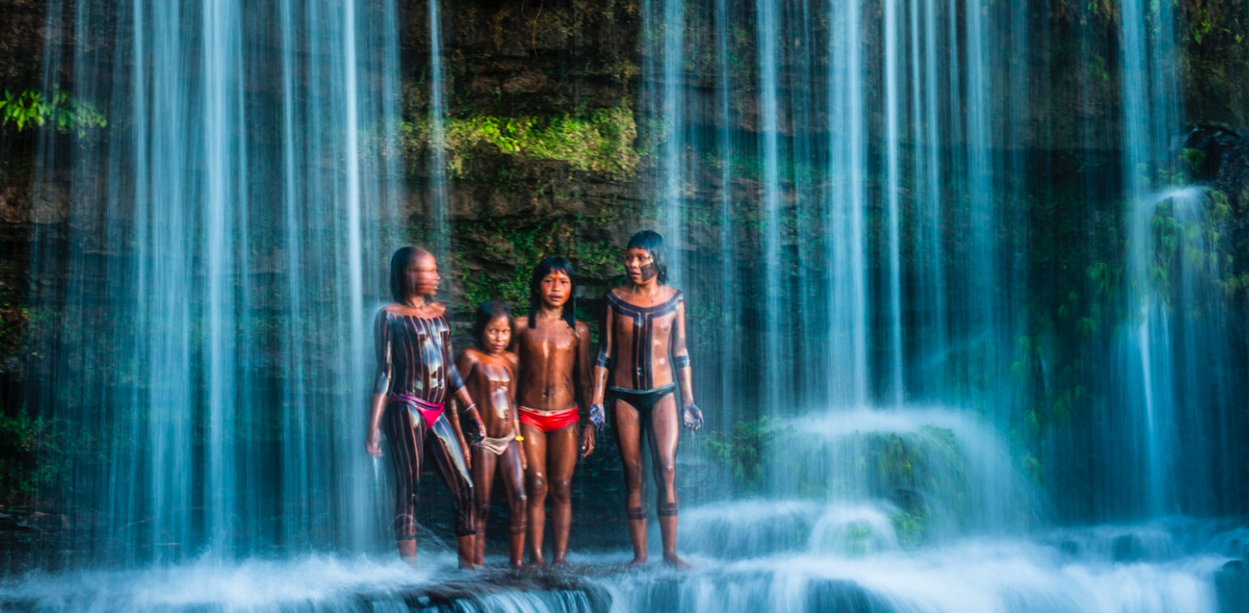 For centuries the Kayapó way of life has been deeply entwined with the rivers that flow through the forest. For me, this image is a powerful symbol of nature's familial hold on the human spirit, reminding us that nature is so much more than a commodity to exploit.