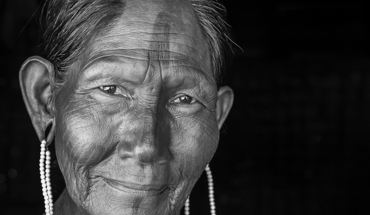 The embodiment of strength, knowledge, and the rich cultural heritage of her people, who have lived in the rainforests of Brazil for millenia, this Kayapó elder is a leader in her community and a proud keeper of their traditional knowledge.    Brazil