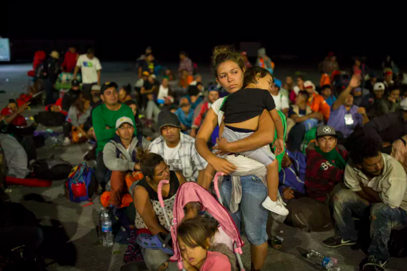 The Central American caravan includes many women asylum seekers hoping to give their children a safer life in the United States.  AP Photo/Rodrigo Abd