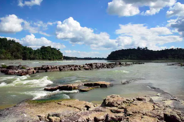 The Tapajos River, downstream from where a dam could be built.Robert T. Walker, CC BY-SA