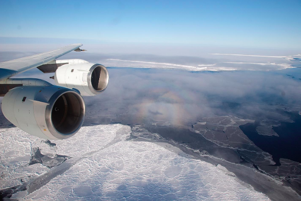 Flying over the Brunt Ice Shelf. NASA/Michael Studinger. CC 2.0  https://www.flickr.com/photos/nasa_goddard/5281037316/in/photolist-Up4XjE-8ZmvJ2-93EGpw