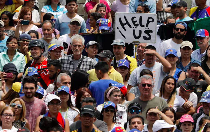 Venezuelans have faced food and medicine shortages since late 2015. Now power outages have cut off water supplies, too.  AP Photo/Natacha Pisarenko