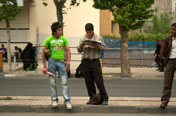 Young men in Qazvin, Iran. Kamyar Adl. CC BY 2.0