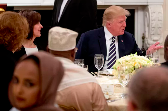 Ramadan dinner at White House in 2018.  AP Photo/Andrew Harnik