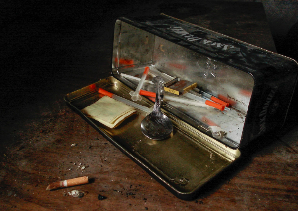 Above is a collection of drug paraphernalia, including syringes and a cigarette. Filipino President Rodrigo Duterte began a war on drugs in 2016, and Sister Cresencia Lucero, who died May 15, fought against it as a human rights advocate. Matthew Rader. CC0.